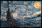 Van Gogh tapestry, Starry Night, 1889, wall-hanging
