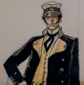 Corto Maltese canvas Art print, Corto Maltese in piedi