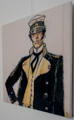 Corto Maltese canvas Art print, Corto Maltese in piedi 65 x 65 cm