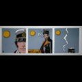 Corto Maltese canvas Art print, Triptych
