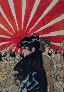 Corto Maltese canvas print, Rising sun