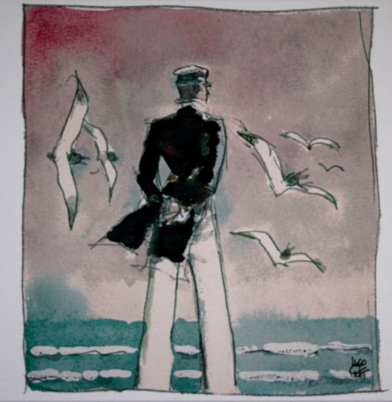 Corto Maltese canvas Art print, Rendez-vous
