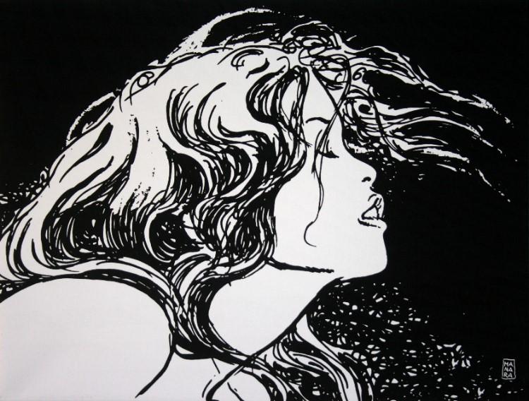 Super Giocco II : Milo Manara Canvas Fine Art Print 80 x 60 cm YL75