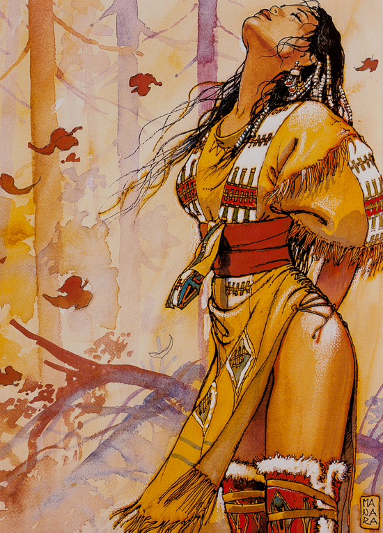 Milo Manara canvas Art print, Indian III