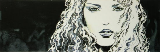 Milo Manara canvas Art print, Moon I