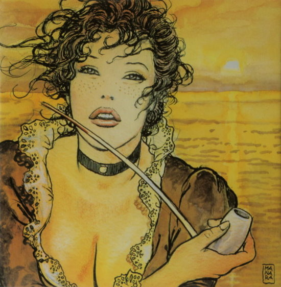 Reproduction sur toile Milo Manara, Sun Molly
